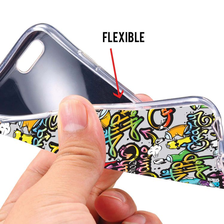 Crazy Graffiti Soft Silicone Back Cover for Lava Z60