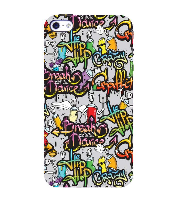 Crazy Graffiti Back Cover for Apple iPhone 4 : 4S