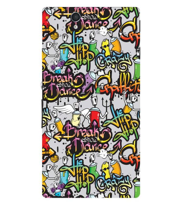 Crazy Graffiti Back Cover for Sony Xperia Z