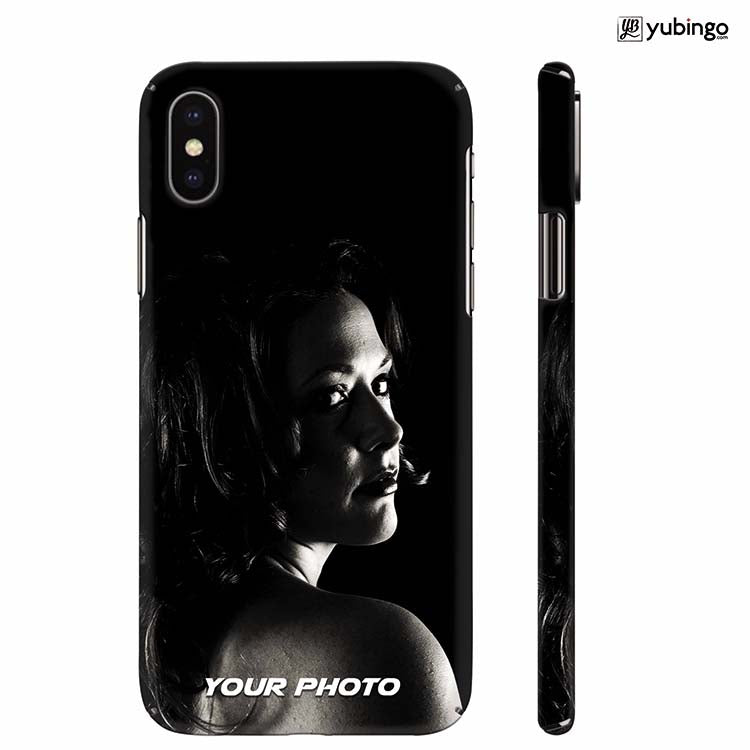 hot sale online f1060 a462c Your Photo Back Cover for Apple iPhone X
