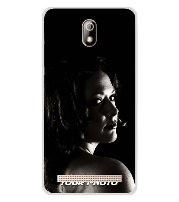 Your Photo Soft Silicone Back Cover for Comio C1 Pro