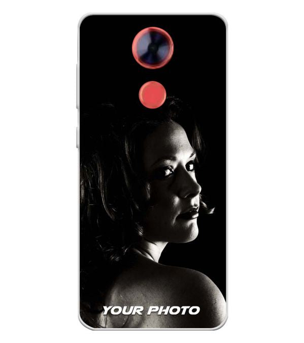 Your Photo Soft Silicone Back Cover for Comio X1