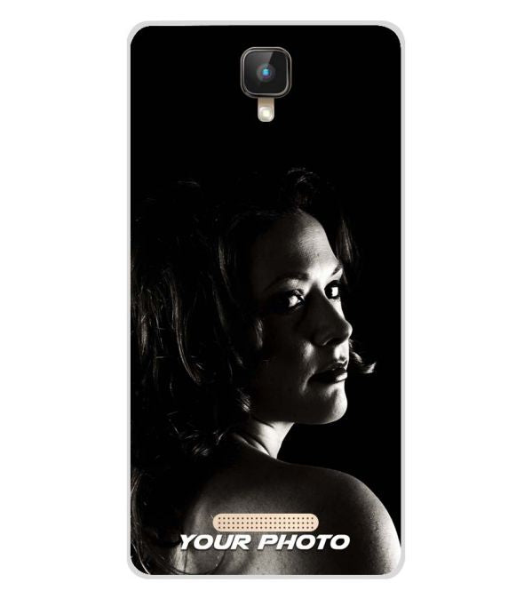 Your Photo Soft Silicone Back Cover for Intex Aqua Lions 2 4G