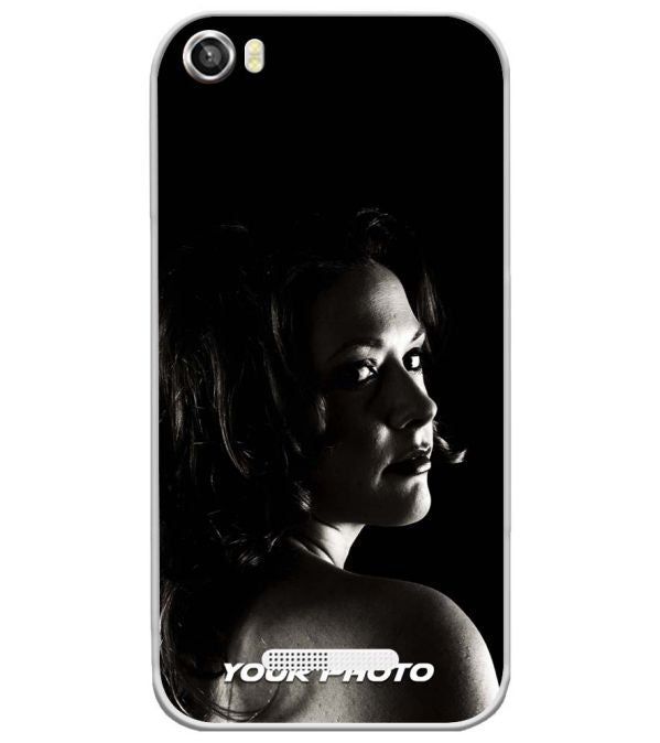 Your Photo Soft Silicone Back Cover for Lava Iris X8