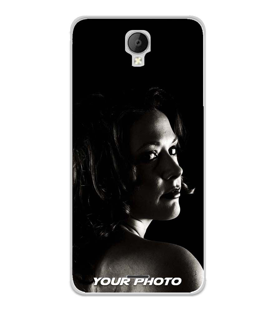 Your Photo Soft Silicone Back Cover for Micromax Spark Go