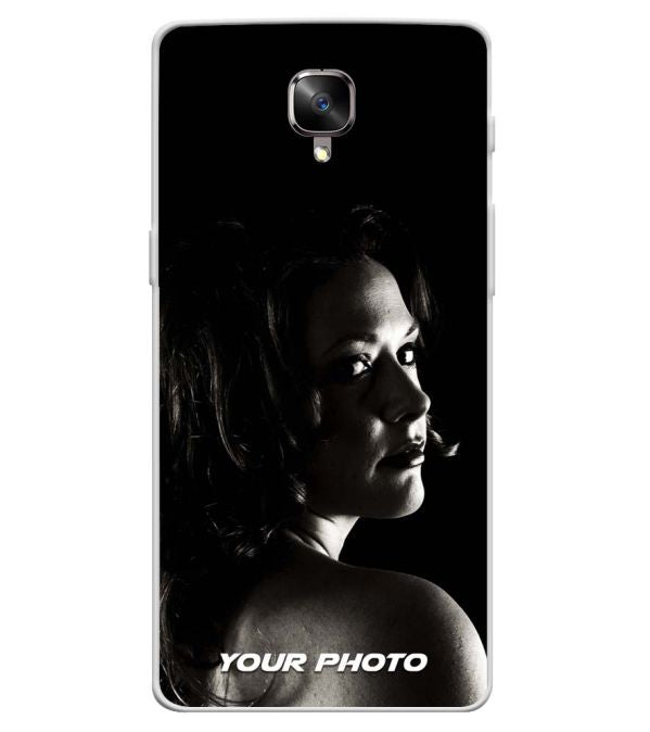 promo code 262e0 6b8a2 Your Photo Soft Silicone Back Cover for OnePlus 3 and OnePlus 3T