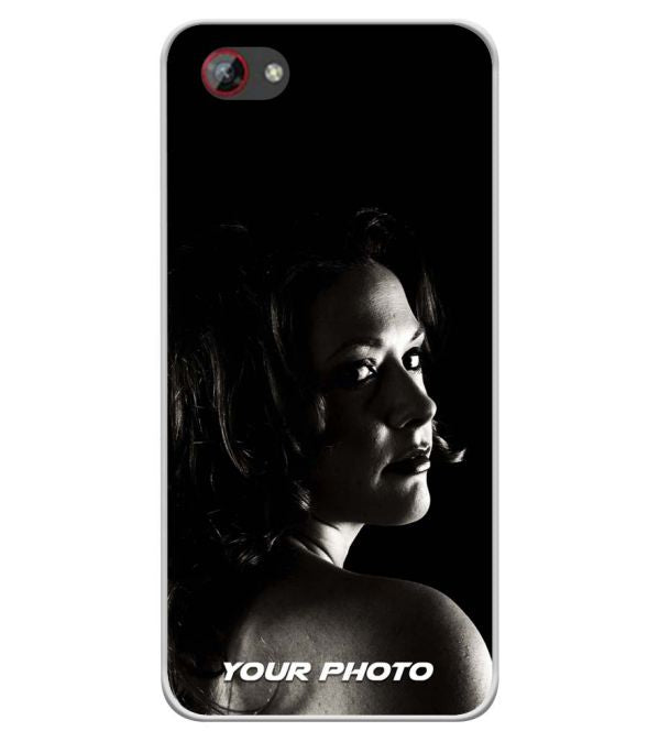 Your Photo Soft Silicone Back Cover for Spice F301