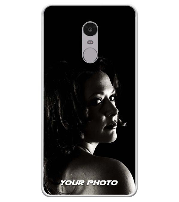 Your Photo Soft Silicone Back Cover for Xiaomi Redmi Note 4