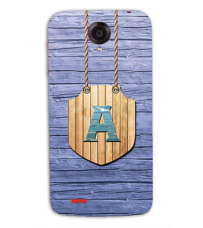 Customised Alphabet Back Cover for Lenovo S820