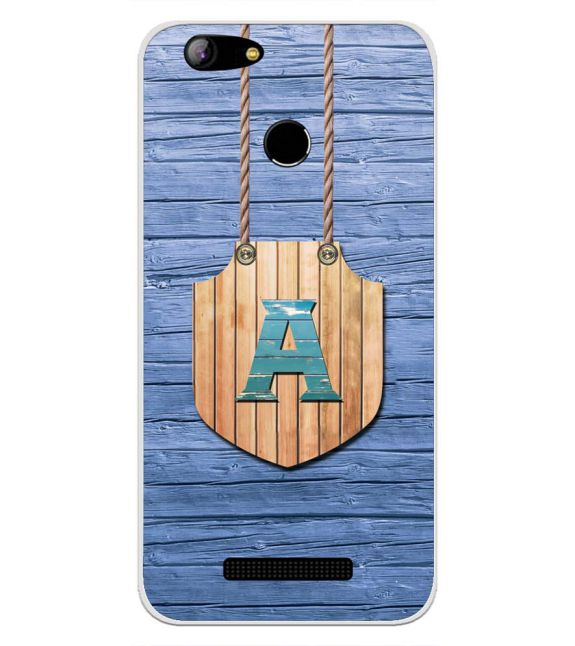 Customised Alphabet Back Cover for Intex Aqua Lions X1