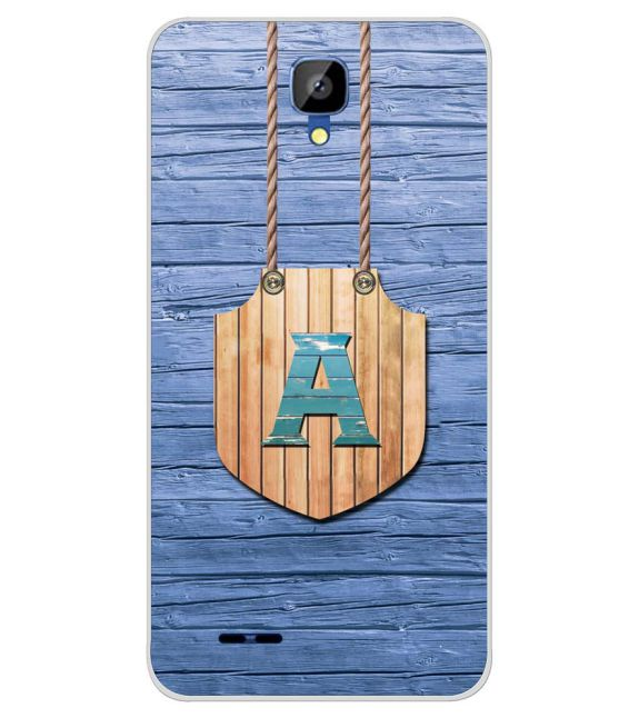 Customised Alphabet Back Cover for Karbonn Aura Champ-Image3