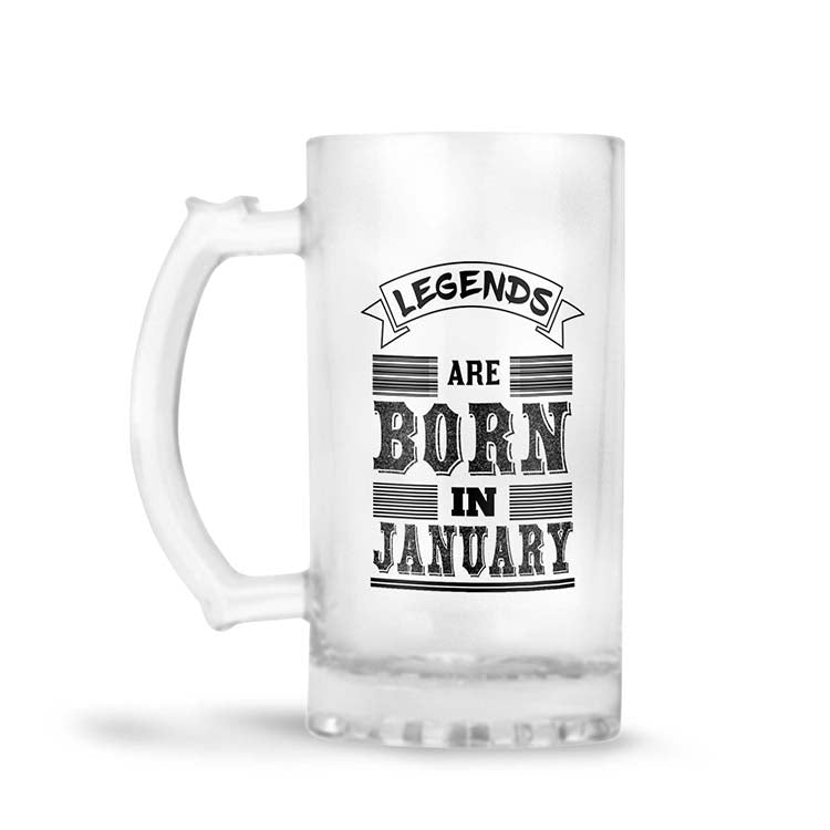 Customised Legends Beer Mug