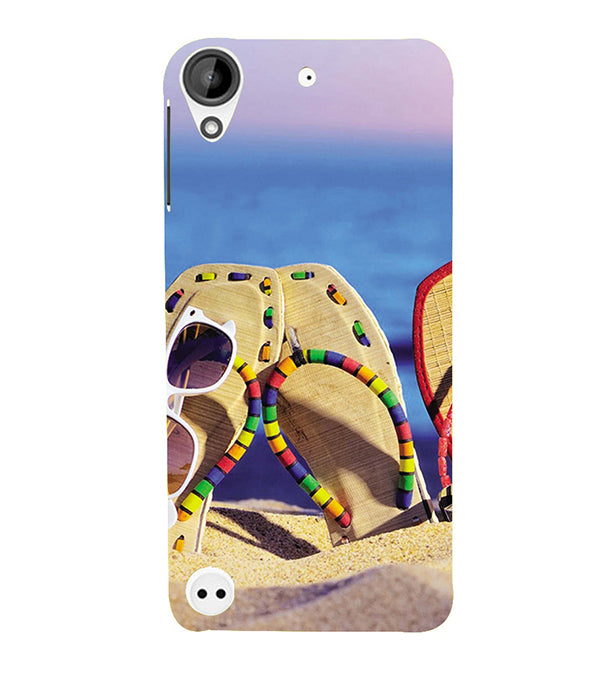 low priced 5a789 c5f11 Cute Flip Flops On Beach Back Cover for HTC Desire 10 Pro