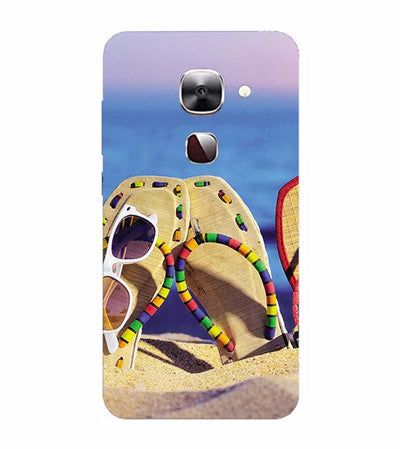 Cute Flip Flops On Beach Back Cover for LeEco Le 2s