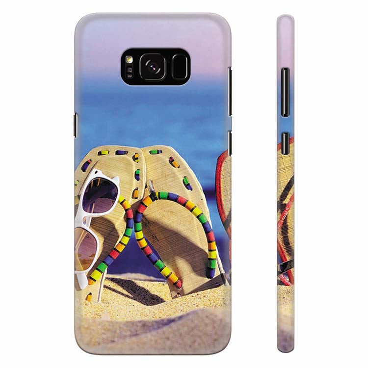 info for 721dd 0a254 Cute Flip Flops On Beach Back Cover for Samsung Galaxy S8