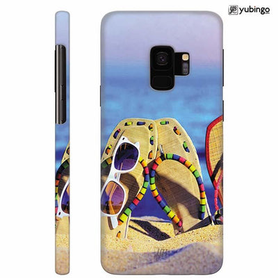 Cute Flip Flops On Beach Back Cover for Samsung Galaxy S9