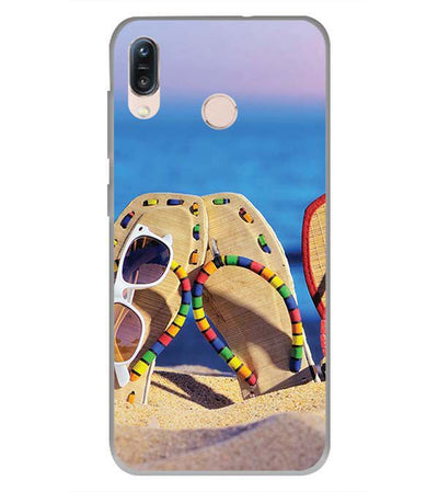 Cute Flip Flops On Beach Back Cover for Asus Zenfone Max Pro M1