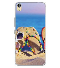 cheaper 05f81 d81b3 Cute Flip Flops On Beach Soft Silicone Back Cover for Infinix Smart 2