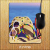 Cute Flip Flops On Beach Mouse Pad-Image2