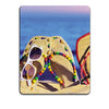 Cute Flip Flops On Beach Mouse Pad