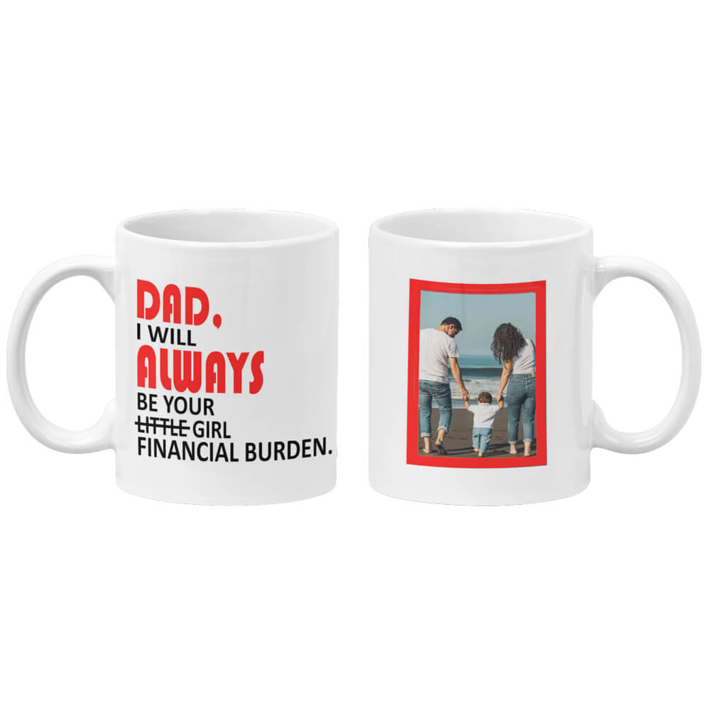 Dad And Girl Coffee Mug