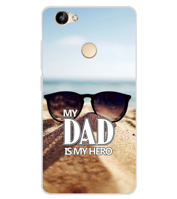 premium selection af72b d4e23 Dad is My Hero Soft Silicone Back Cover for Itel Wish A41 Plus