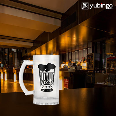 Dad Needs Beer Beer Mug-Image5