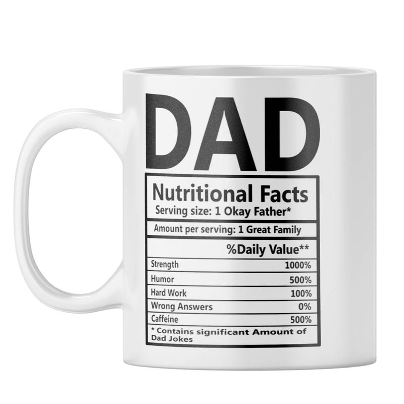 Dad Nutritional Fact Coffee Mug