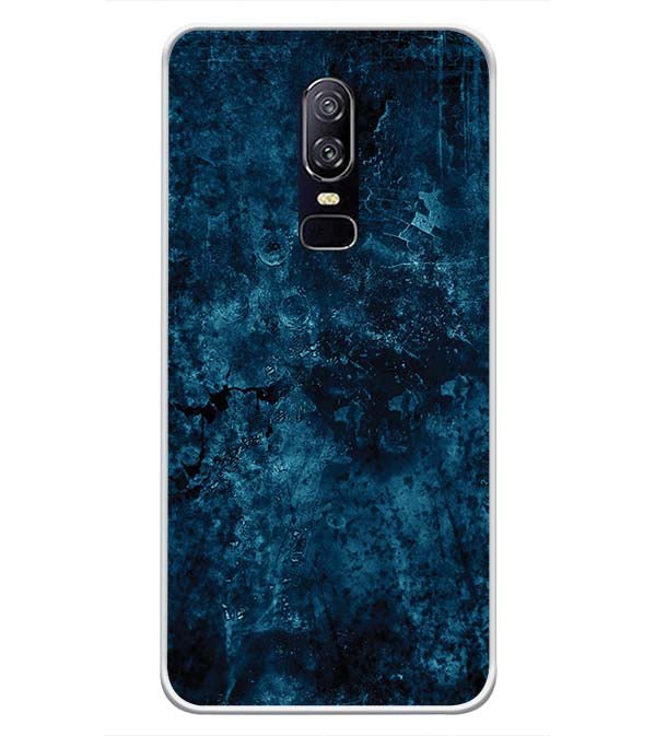 Deep Blues Soft Silicone Back Cover for OnePlus 6