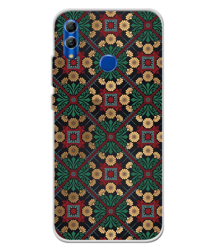 Designer Pattern Soft Silicone Back Cover for Honor 10 Lite