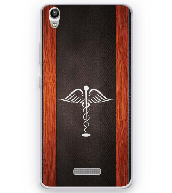 Doctor Symbol Soft Silicone Back Cover for Micromax Canvas Fire Q386
