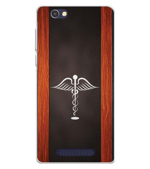 Doctor Symbol Soft Silicone Back Cover for Lava A72