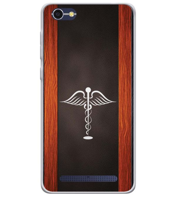 Doctor Symbol Soft Silicone Back Cover for Lava A77