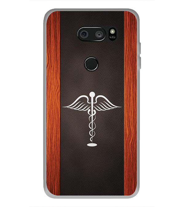 Doctor Symbol Back Cover for LG V30 Plus