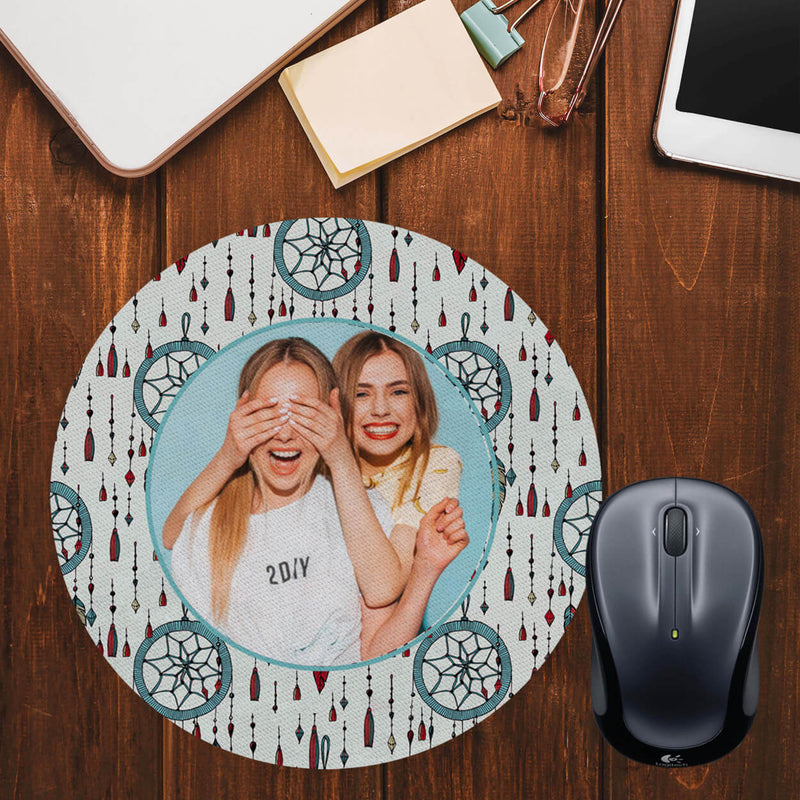 Dream Catcher Photo Mouse Pad (Round)