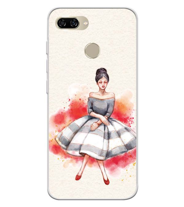 Dream Girl Soft Silicone Back Cover for Gionee S11 lite