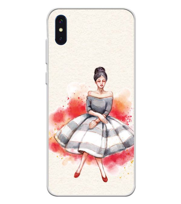 Dream Girl Soft Silicone Back Cover for iVoomi i2