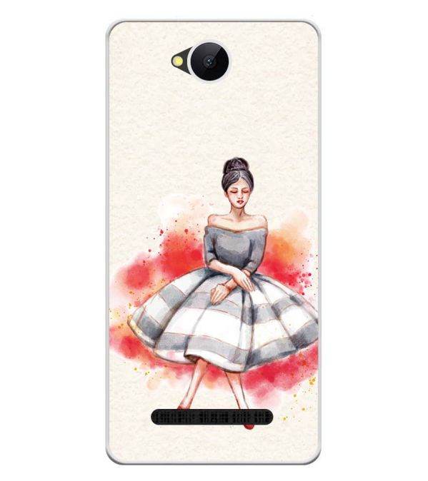 Dream Girl Soft Silicone Back Cover for Karbonn A45 Indian