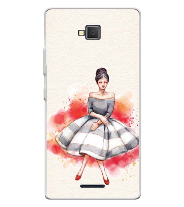 Dream Girl Soft Silicone Back Cover for Lava A82