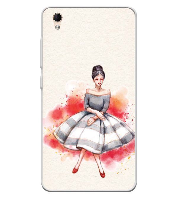 Dream Girl Soft Silicone Back Cover for Lava Z60