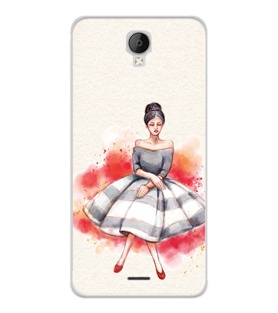 Dream Girl Soft Silicone Back Cover for Micromax Spark Go