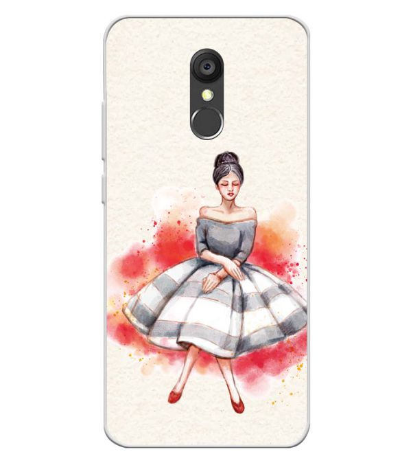 Dream Girl Soft Silicone Back Cover for Panasonic Eluga Ray 550