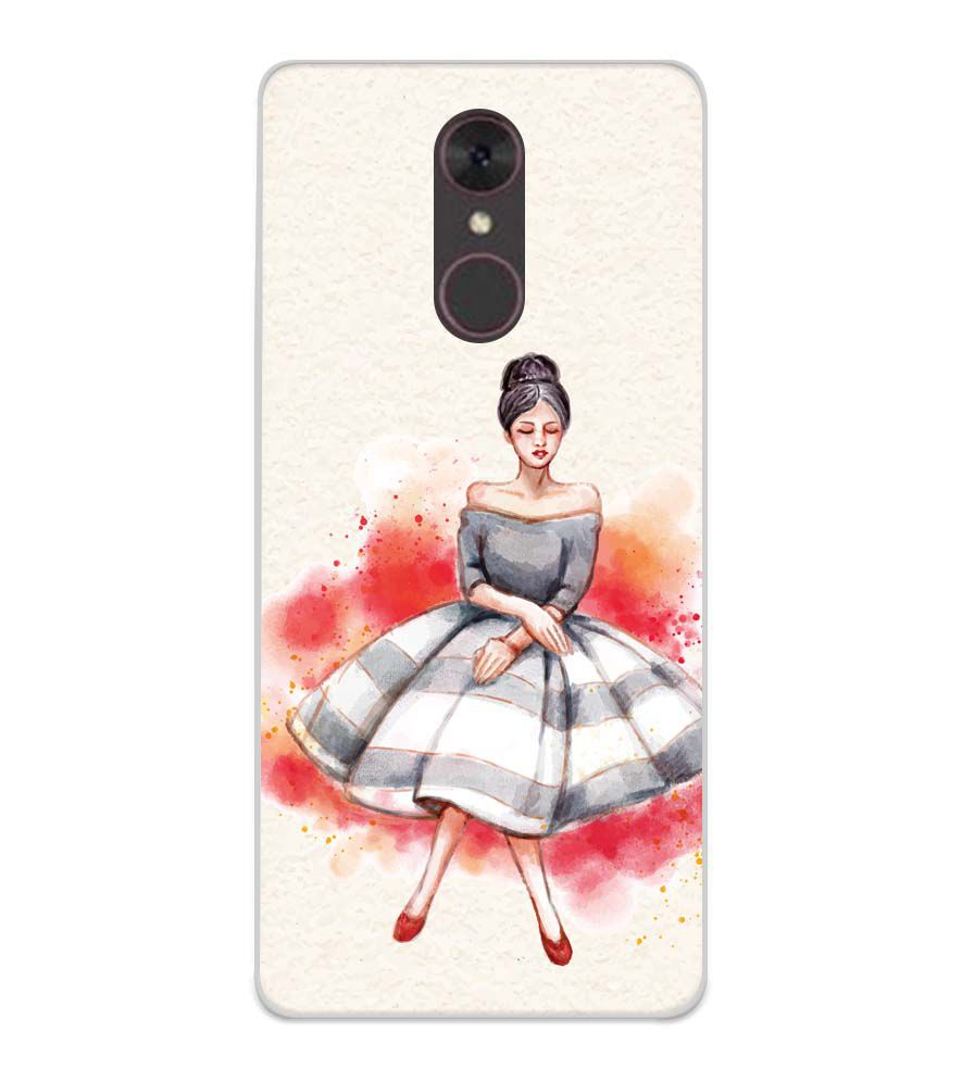 Dream Girl Soft Silicone Back Cover for Spice F311