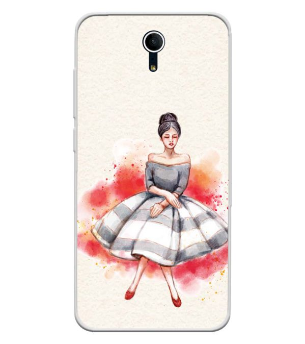 Dream Girl Soft Silicone Back Cover for Swipe Elite Plus