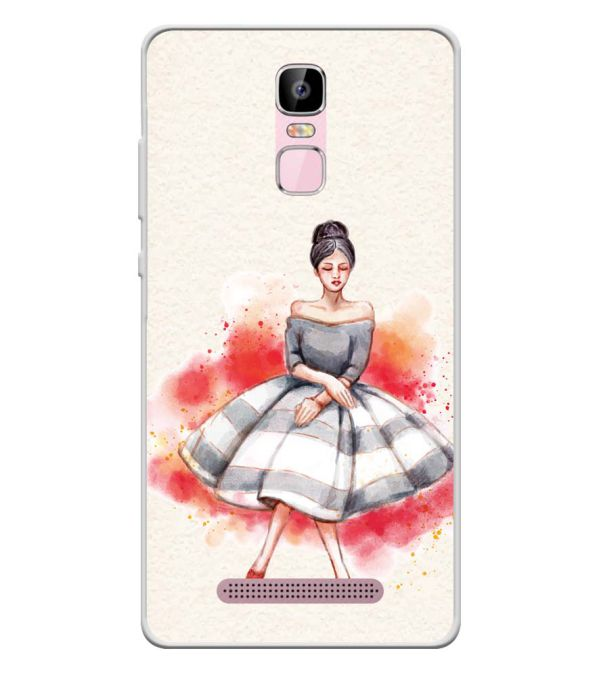 Dream Girl Soft Silicone Back Cover for Zen Admire Sense Plus