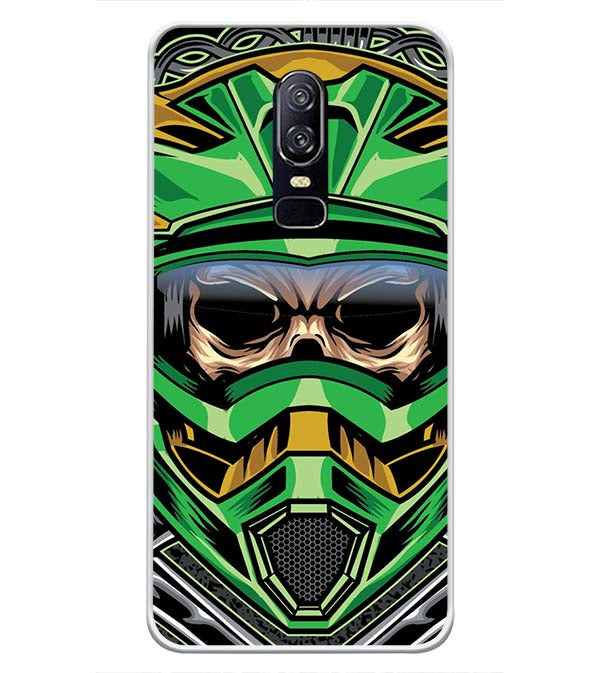 Driving Skull Soft Silicone Back Cover for OnePlus 6
