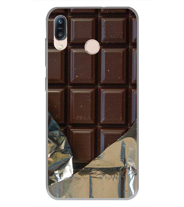 Eat that Chocolate Bar Soft Silicone Back Cover for Asus Zenfone Max Pro M1
