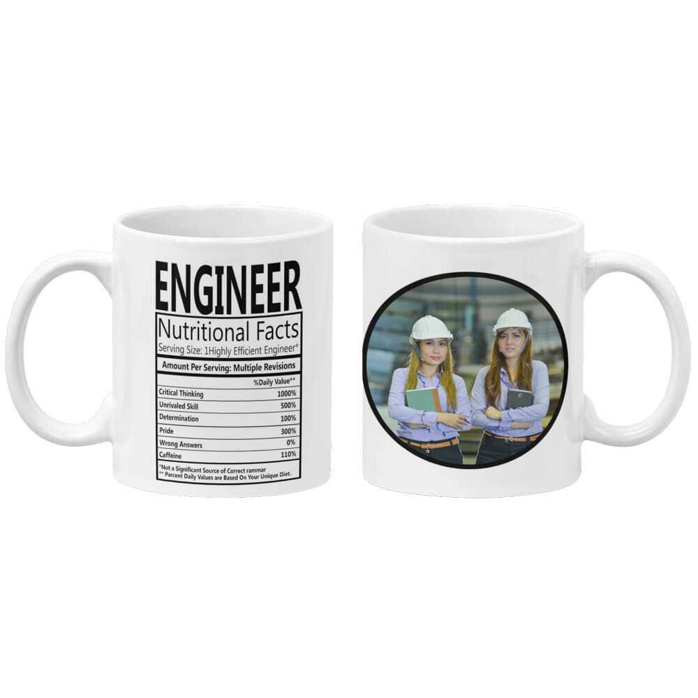 Engineer Nutritional Fact Coffee Mug