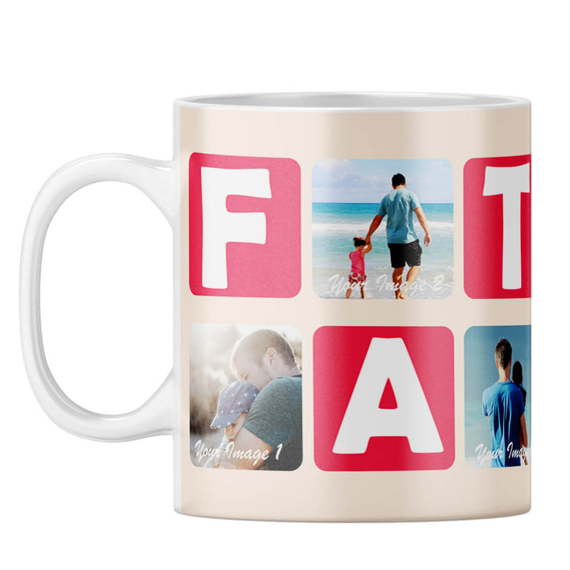 Father Collage Coffee Mug