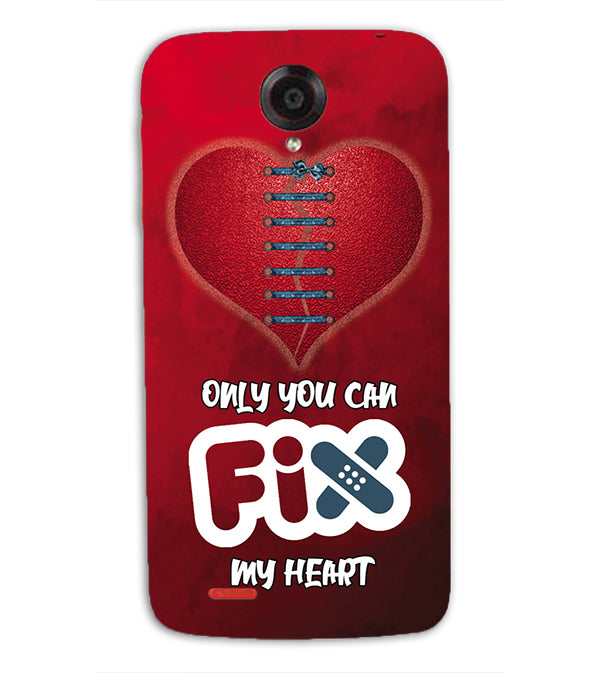 Fix My Heart Back Cover for Lenovo S820